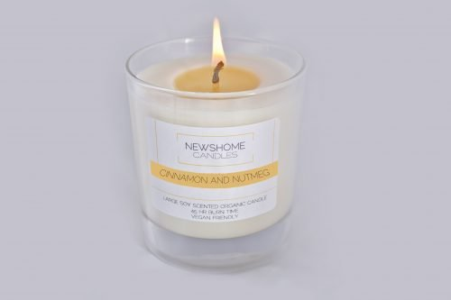 Cinnamon and Nutmeg Natural Candles and Vegan Candles 1